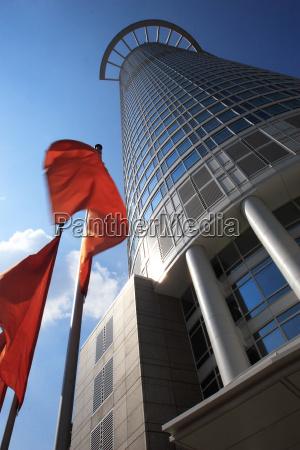 dz bank flag in motion