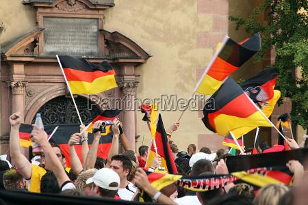 frankfort city german flags world championship