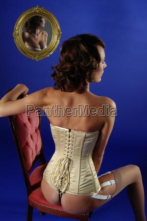 portrait im spiegelbild