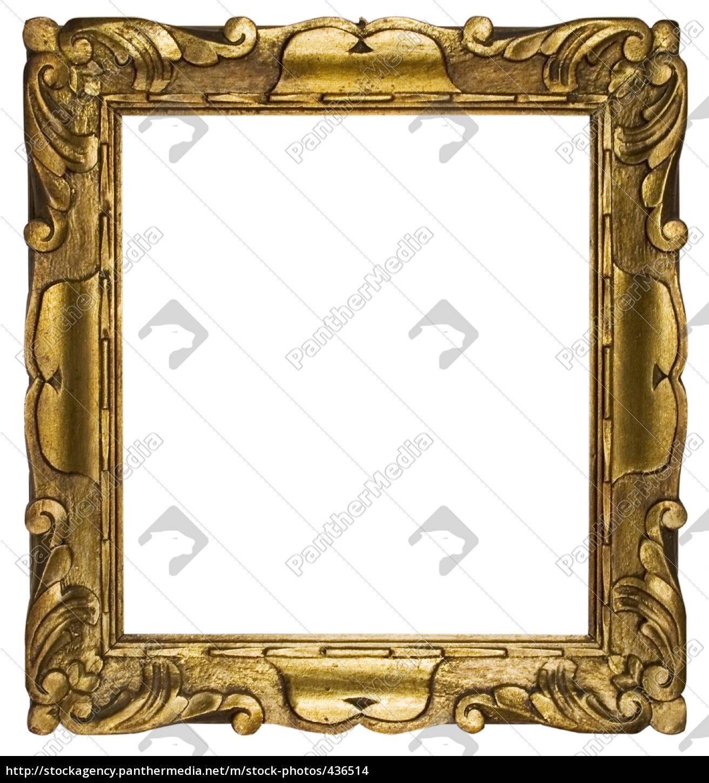 Verzierter goldener Rahmen - Stock Photo - #436514 - Bildagentur ...