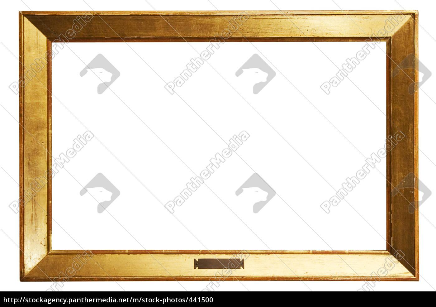 schlichter goldener rahmen mit textfeld lizenzfreies foto 441500 bildagentur panthermedia. Black Bedroom Furniture Sets. Home Design Ideas