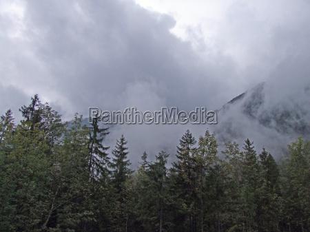 mountains green cloud blank european caucasian