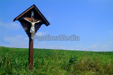 cross on meadow