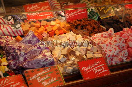 colorful selection of sweets