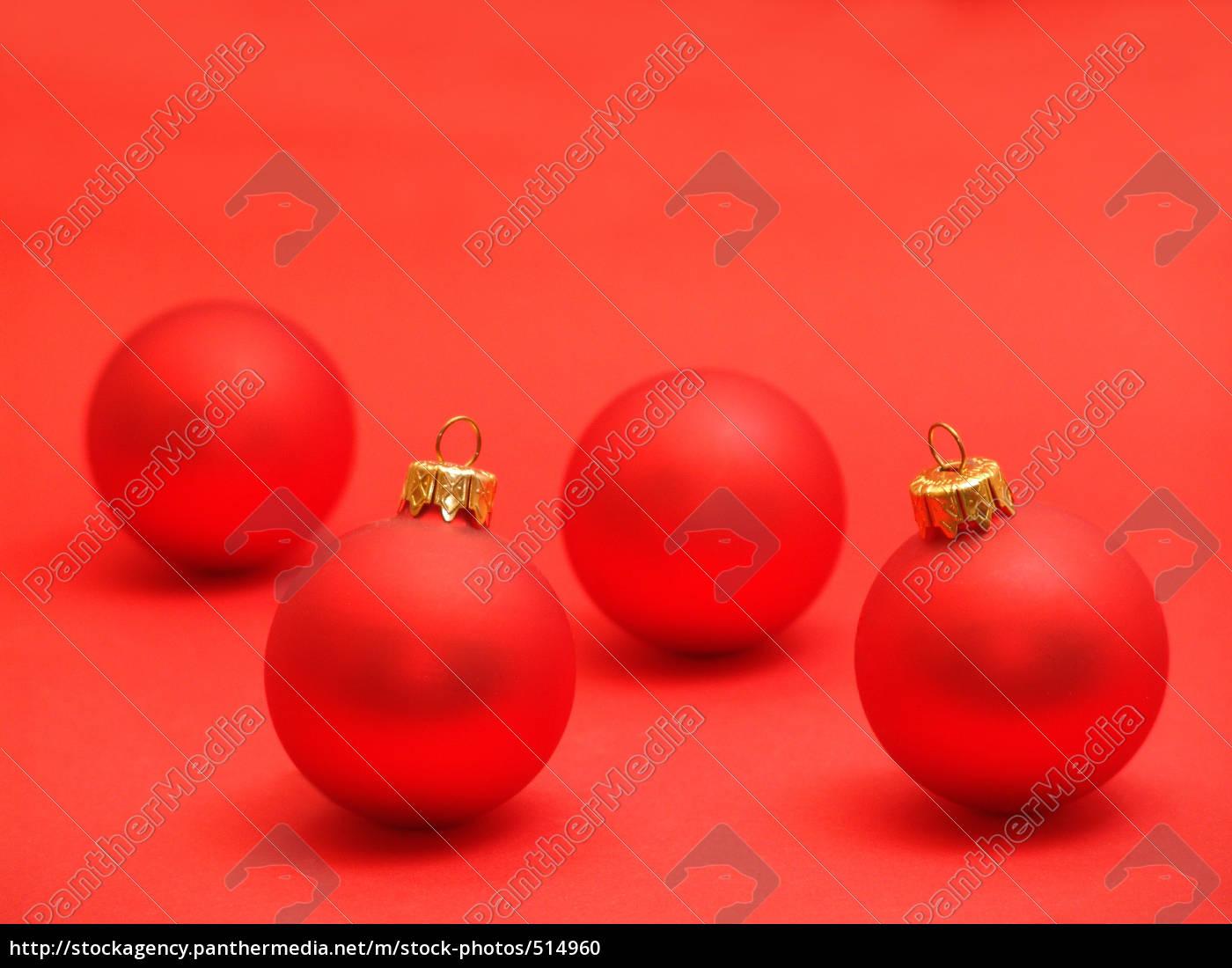Rote Christbaumkugeln.Lizenzfreies Foto 514960 Rote Christbaumkugeln