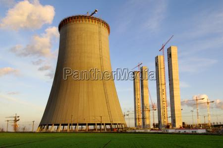 neubau, eines, , kraftwerk-kühlturms - 524953