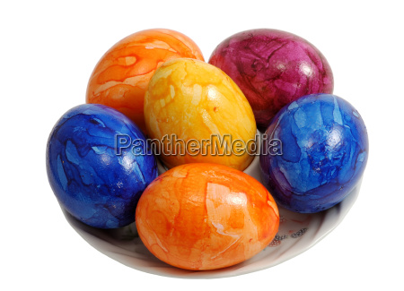 easter eggs isolated with clipping path