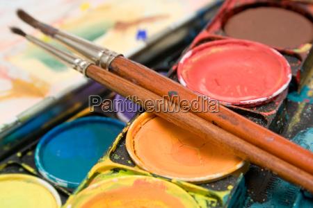 wasserfarben detail
