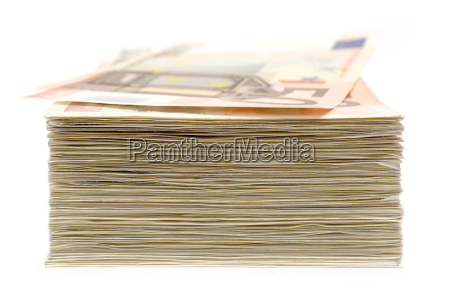 gestapeltes geld