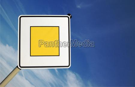 schild signal zeichen blau umwelt verkehr
