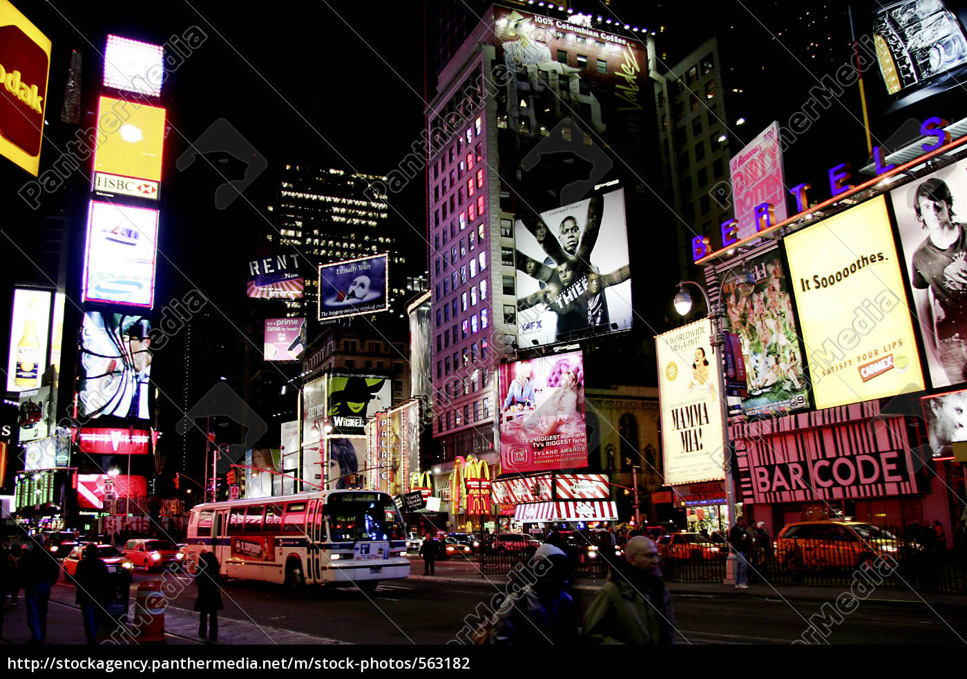 ny, times, square, bei, nacht - 563182