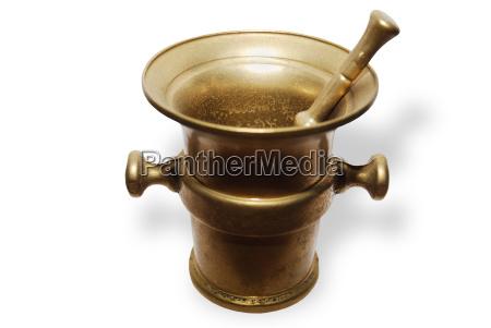 bronze moerser und pistill