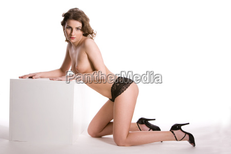 woman in an erotic pose