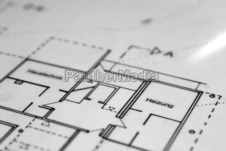 technische zeichnung eines grundrisses