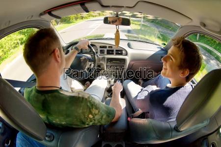 conducir luz soleado hijo coche carro
