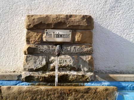 wandbrunnen kein trinkwasser
