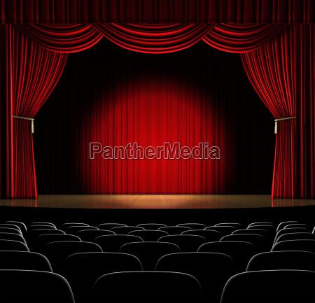 theatersaal mit spot auf die mitte