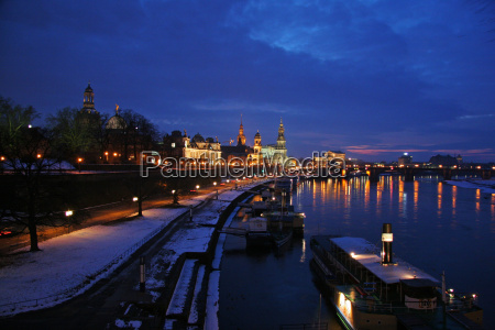 winterabend in dresden