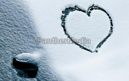 frischer schnee frische liebe