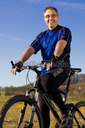 auf dem mountainbike