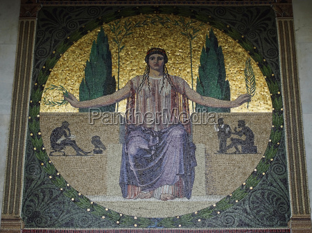painting detail admission munich mosaics mosaic