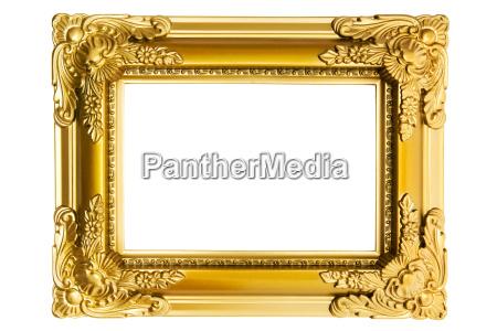 vergoldeter plastikrahmen