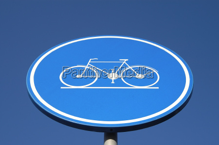 cycleway sign bicycle signage blue