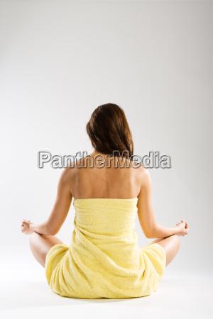 entspannungspose vertikal