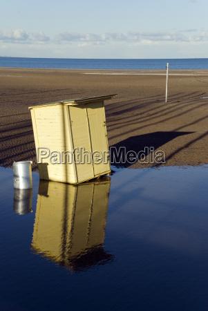 mirrored hut