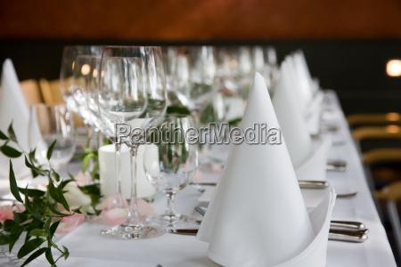 gedeckte tafel
