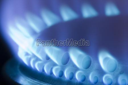 gasflamme eines gasherds