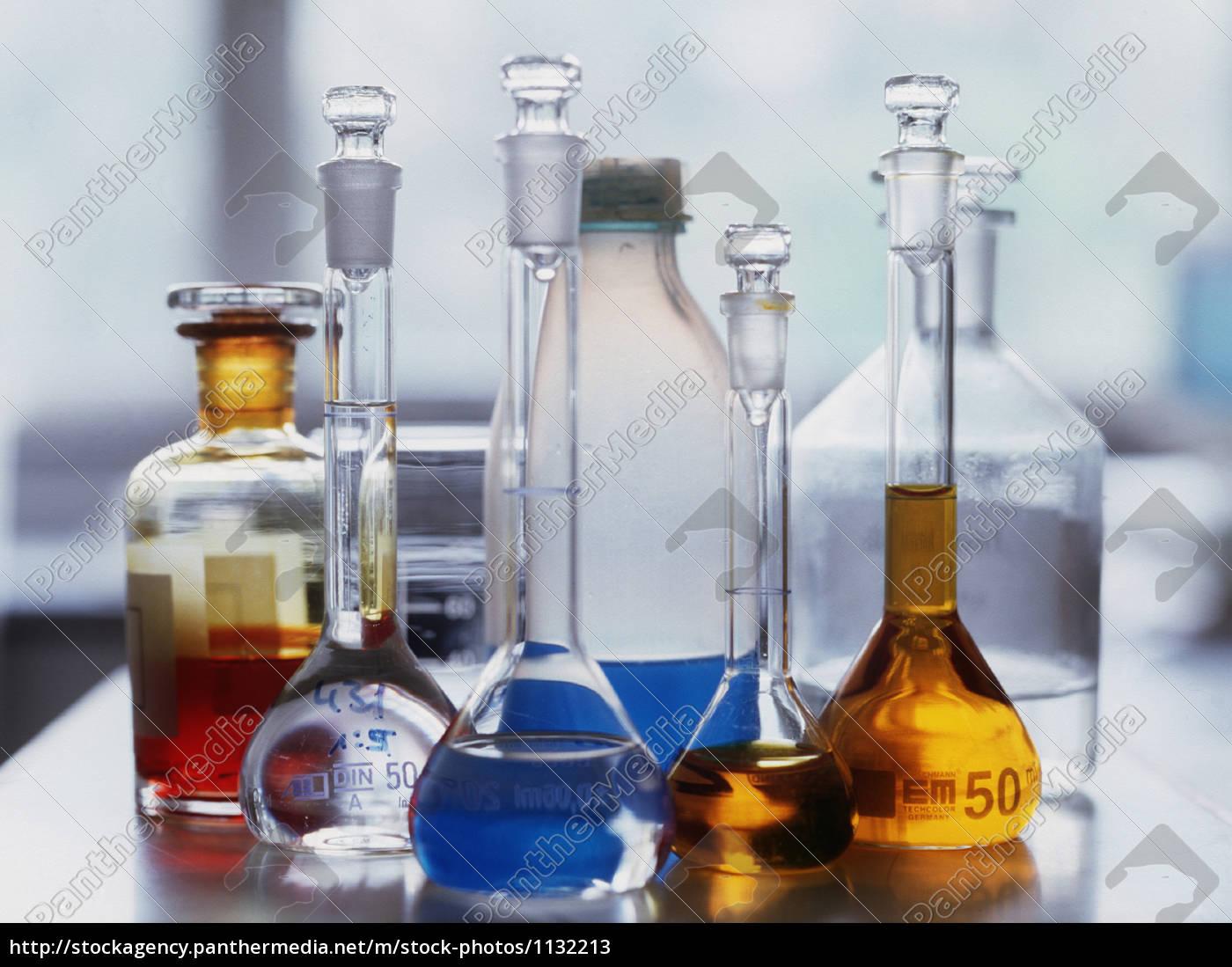 chemikalien, in, laborgläsern - 1132213