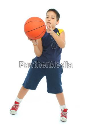 sport ball basketball korbball zicklein junge