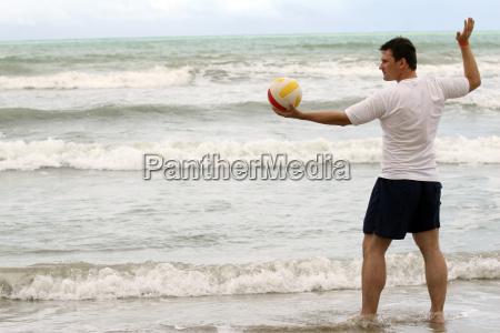 beach volleyball am strand