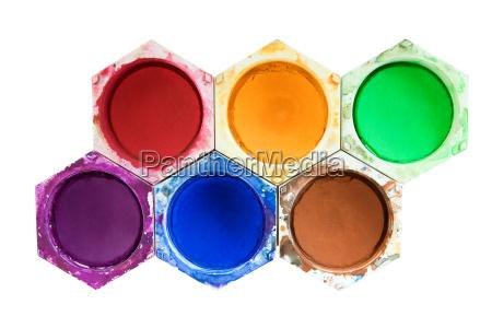 sechs wasserfarben
