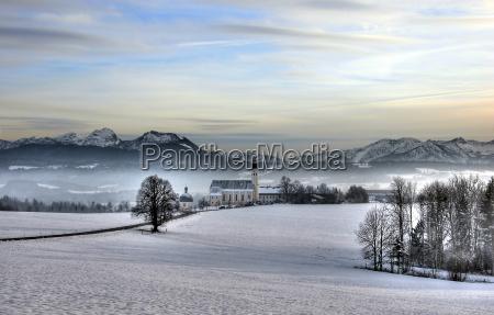 nebel vor den bergen