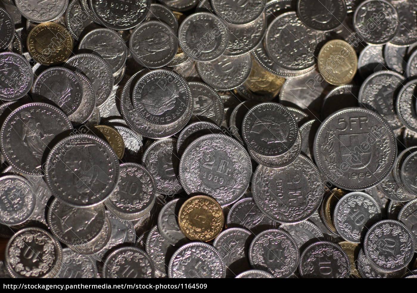 Schweizer Franken Münzen Lizenzfreies Bild 1164509