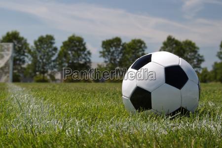 soccer ball in the corner area
