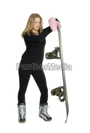 snowboard maedchen