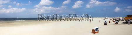 borkum strand panorama