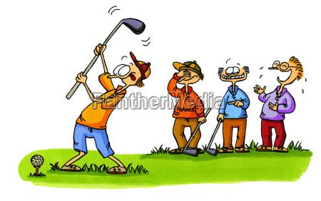 golf cartoons nr 1 anfaenger