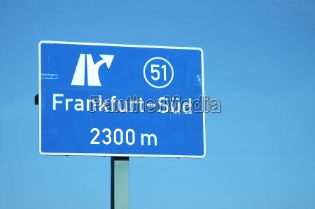 motorway exit frankfurt south