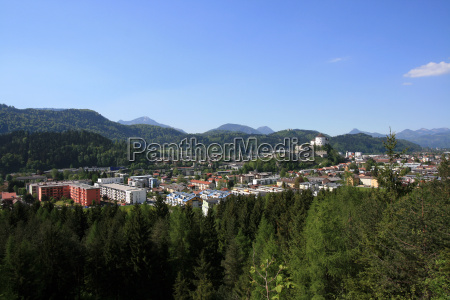 view over the city kufstein