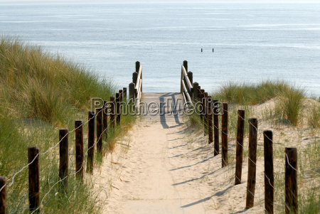 duenenweg zum strand in holland