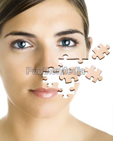 puzzle gesicht
