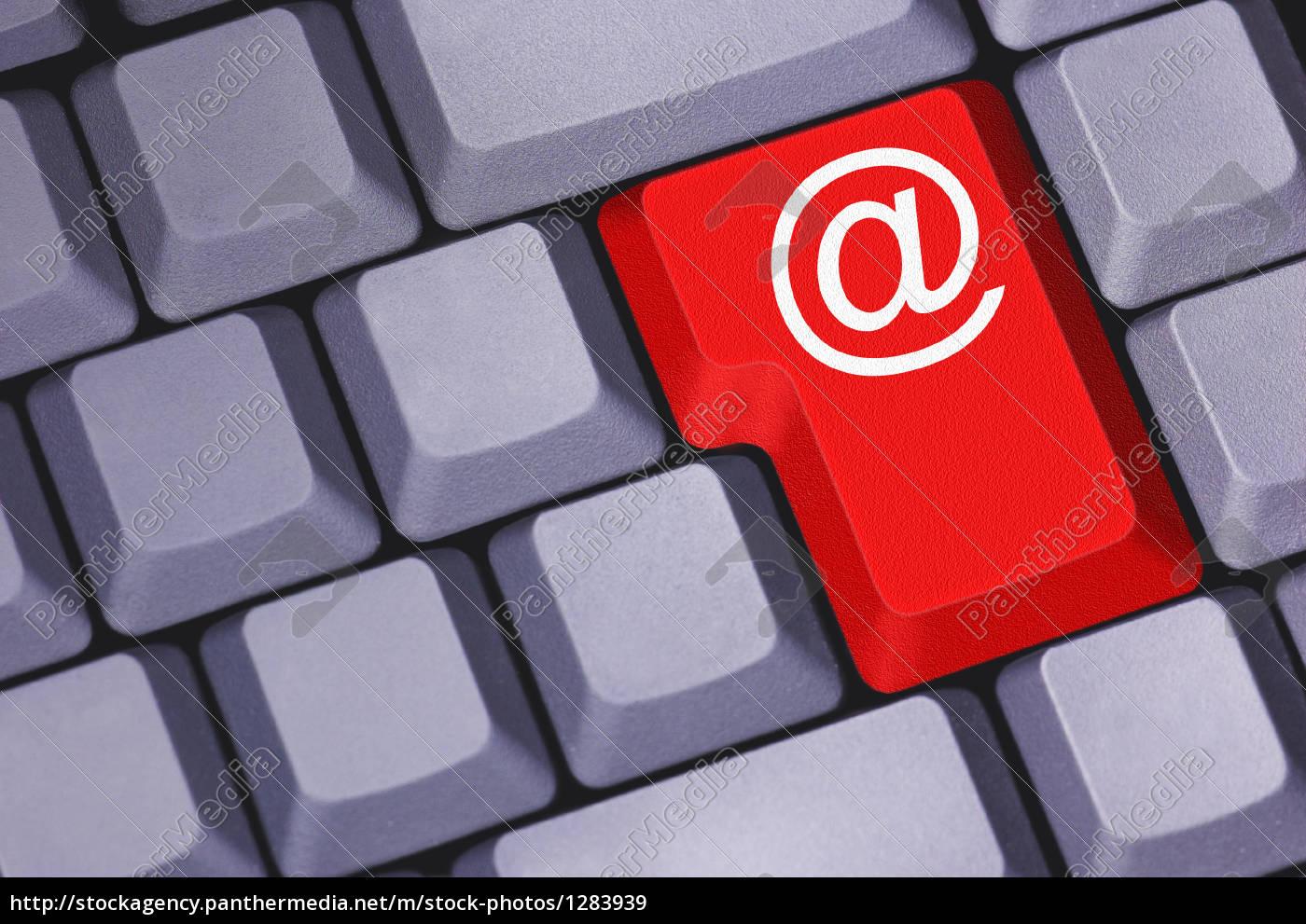 tastatur, mit, email-symbol - 1283939