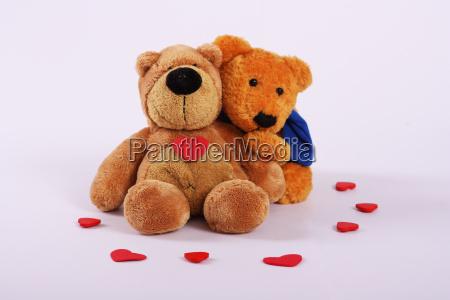 kuschelnde teddybaeren querformat