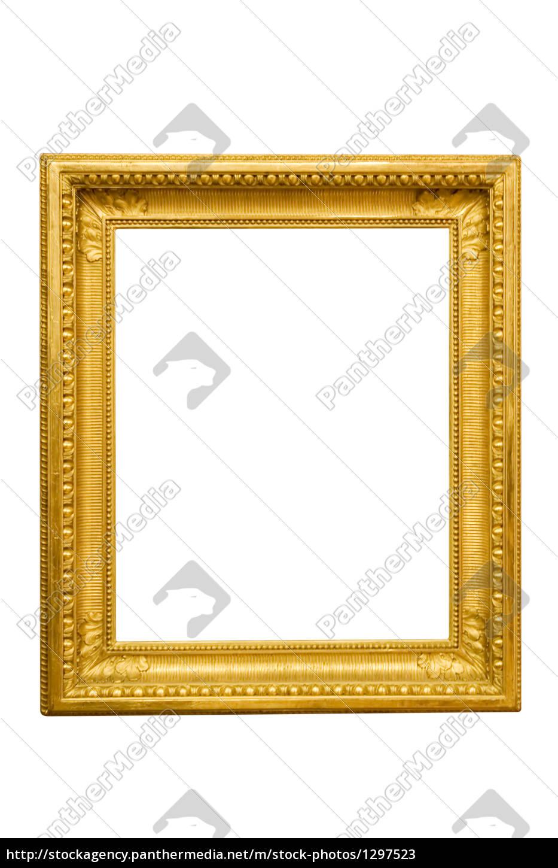 Einfacher goldener Rahmen - Lizenzfreies Bild - #1297523 ...