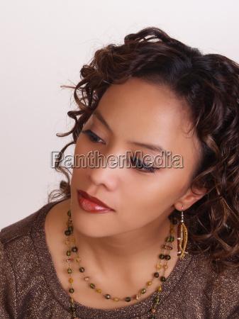 young woman portrait hispanic