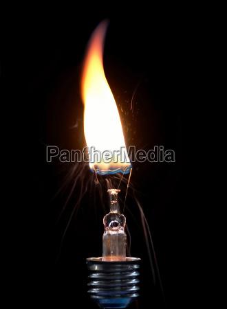 burning bulb